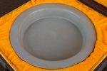 AE205. 도자기 반 - 여기저기 알튐 및 가마유가 보여짐 (400g)