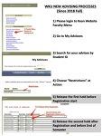Guide for Advisement for Course Registration (WKU CBM)