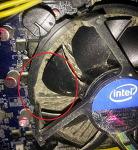 CPU 방열판과 쿨링팬날개 등 먼지청소