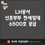 LH공사 신혼부부 전세임대 6500호 공급 한데요~!