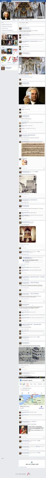 만약 요한 제바스티안 바흐가 페이스북을 했더라면?