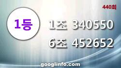 연금복권 440회 당첨번호, 12월4일 추첨 안내