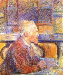 툴루즈 로트레크가 그린 빈센트 반 고흐의 초상화, 그리고 공통점이 많은 고흐와 로트렉