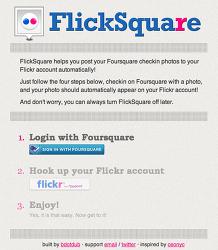 [FlickSquare] 포스퀘어 사진 플리커(Flickr)에서 관리하세요!