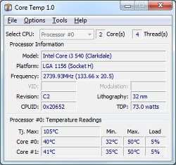 [Windows]CPU온도측정 프로그램 CoreTemp