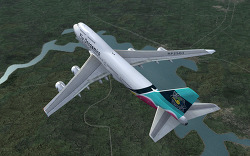 Fly Onsaemiro, B747-400, 샌프란시스코-멕시코시티 OS101편