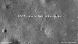 아폴로 (Apollo) 16호의 착륙지 탐험 동영상 (소리 있음)
