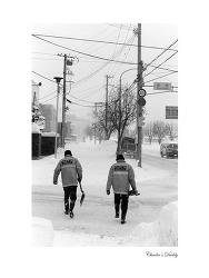 흑백 필름 몇 컷 - 삿포로, 오타루