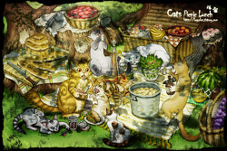 cats picnic lunch