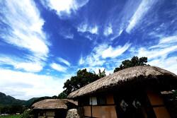 외암마을 하늘...