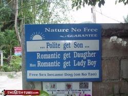 영어를 소재로 한 코믹 광고들..