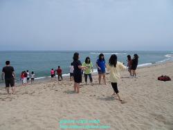 강원도 양양 낙산해수욕장 - 한국 백운고등학교와 중국 운하중학교 학생들과 함께