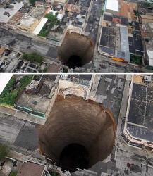 게임같은 과테말라의 거대 구멍