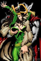 [Thor/lady Loki 토르로키] 로키 여체화 주의...!!
