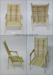 나무젓가락으로 만든 의자