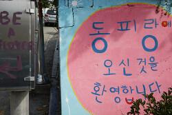 아름다운 통영 동피랑 마을...