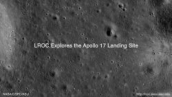 아폴로 (Apollo) 17호의 착륙지 탐험 동영상
