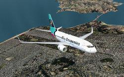 Fly Onsaemiro, B737-700, 샌프란시스코-샌디에이고 OS003편