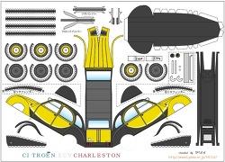 [종이모형] 자동차 시리즈 - 시트로엔 2CV 찰스톤