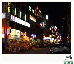 평촌의 밤풍경 ... (2007/03/12/ 23:45 * 파란)