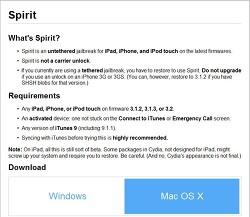 아이폰 3.1.3 탈옥과 기본용어 정리. spirit툴 사용.