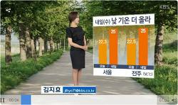 2017-05-16 KBS뉴스 내일 낮 기온 더 올라...강한 자외선 주의 김지효 날씨정보 보기