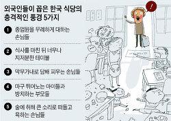 외국인들이 꼽은 한국 식당의 충격적인 풍경 5가지
