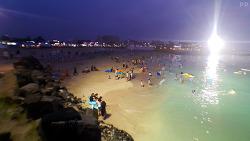 제주 밤의 끝을 잡고… 야간개장 '함덕서우봉해변'