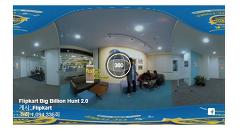 360도 동영상 광고 이용 15일만에 100만 재생 사례