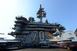 미 항공모함 칼빈슨함, 함정 내부 공개