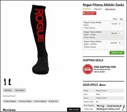 [ROGUE FITNESS] Rogue Fitness Athletic Socks, Rogue Striped Socks