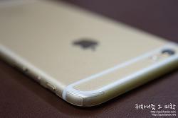 아이폰6 플러스 골드. 생폰으로 사용하기! 3M모바일쉴드 우레탄 전신보호필름