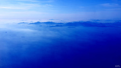 하늘에서 바라본 수묵담채화 … 푸른제주바다