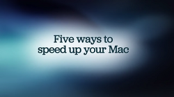 [펌]맥 OSX, 속도 최적화 5가지 비법