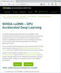 cuDNN 다운로드. 엔비디아 CUDA 기반 neural net 라이브러리.