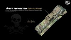 [파우치] AAC(Advanced Armament Corp.) 소음기 파우치 리뷰.