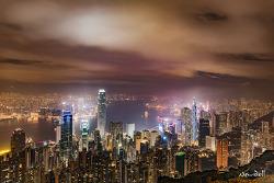 홍콩 빅토리아피크 야경