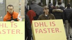 DHL의 경쟁사 직원들이 DHL의 광고를 옮기도록 한다! - 트로이의 택배(DHL is Faster/Trojan Mailing), 바이럴 영상 [한글자막]