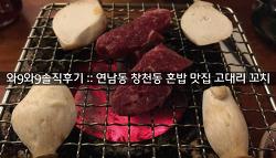 [와9와9 솔직후기] 연남동 창천동 혼밥 맛집 고대리꼬치