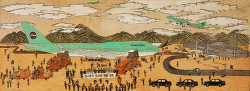 신묘년 외규장각환원도Korean color on hemp65 X162cm2011