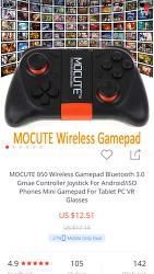 모바일 게임을 더 즐겁게 안드로이드 게임패드 Mocute-050 개봉