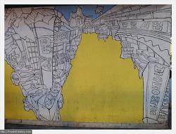 부산을 주제로한 남포동 골목 벽화