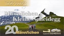 Mannlichen -> Kleine Scheidegg 맨리헨 전망대에서 클라이네 샤이덱으로 트레킹