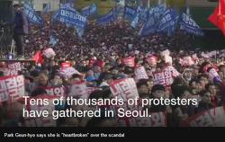 박근혜 하야 시위, 외신 보도 BBC  - 11월 12일 토요일