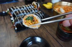 안성 맛집, 그 매운맛에 입안이 너덜해진 신김밥 정말 휴..