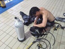 수원 드라이 슈트 스쿠버 다이빙 교육