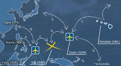 괌을 경유한 마이크로네시아, 얍(YAP)으로 신혼 여행