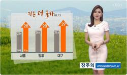 2017-05-18 KBS930뉴스 어제보다 더 더워,강한 자외선 주의 장주희 캐스터 날씨정보