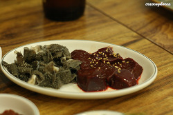 Nutrient richness - Makchang & Raw liver of cow in Jang Goon Gopchang