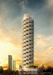 아랍에미레이트 두바이 주메이라빌리지의 환상적인 펜트하우스 60층 아파트